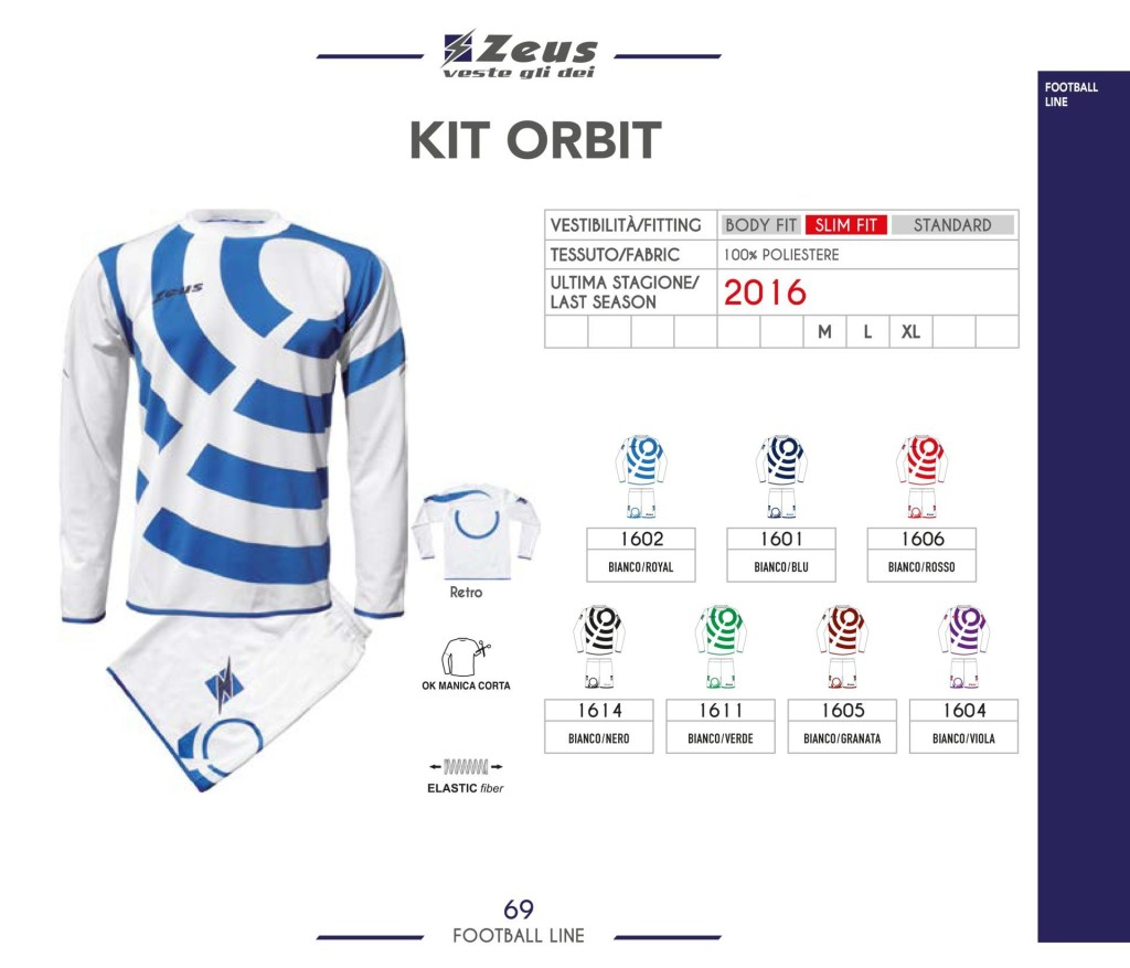 Komplety piłkarskie Zeus Kit Orbit