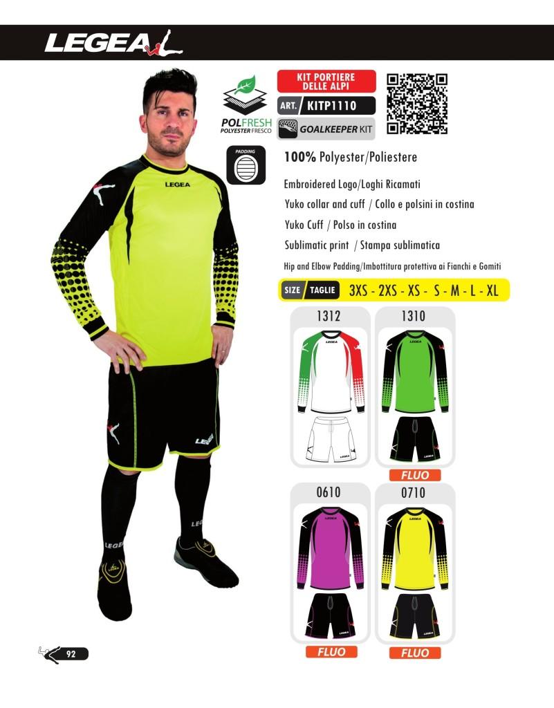 Komplety piłkarskie Legea Kit Portiere Delle Alpi