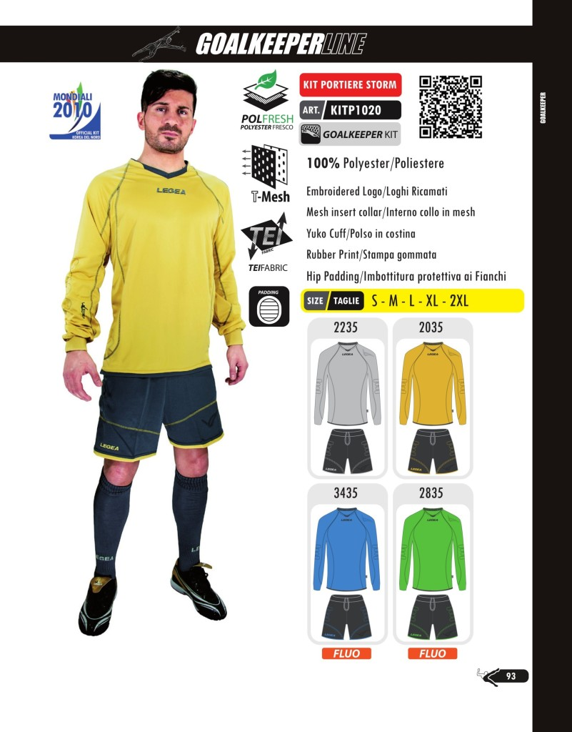 Komplety piłkarskie Legea Kit Portiere Strom