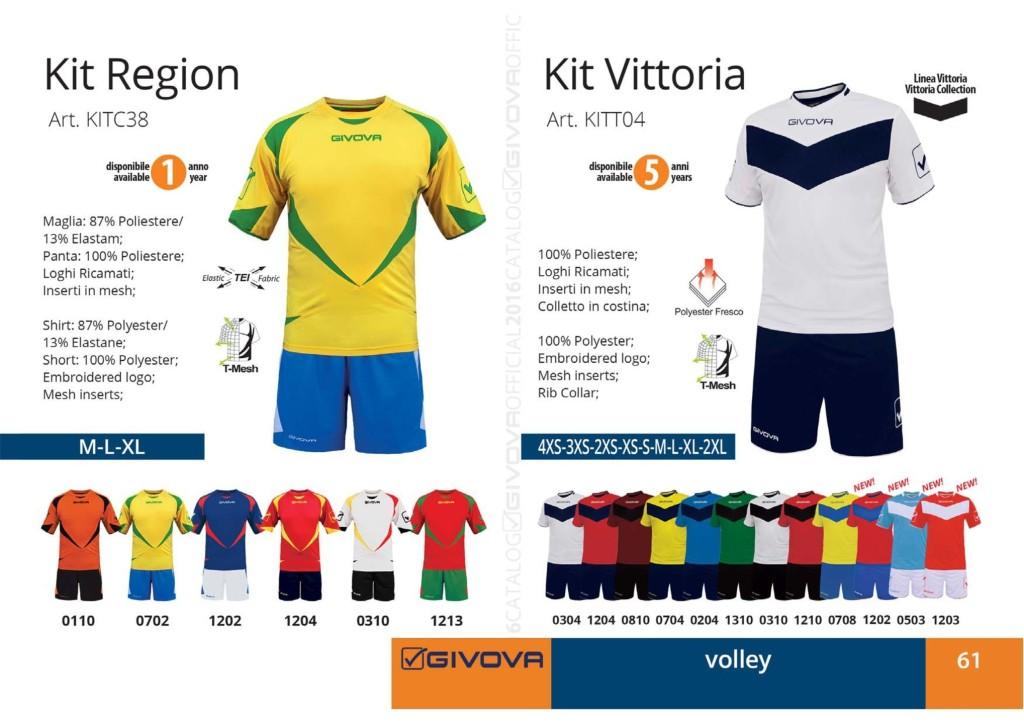 Komplety siatkarskie Givova Kit Region Vittoria