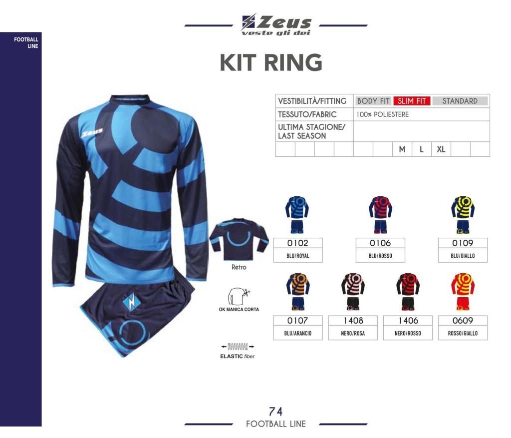 Stroje piłkarskie Zeus Kit Ring