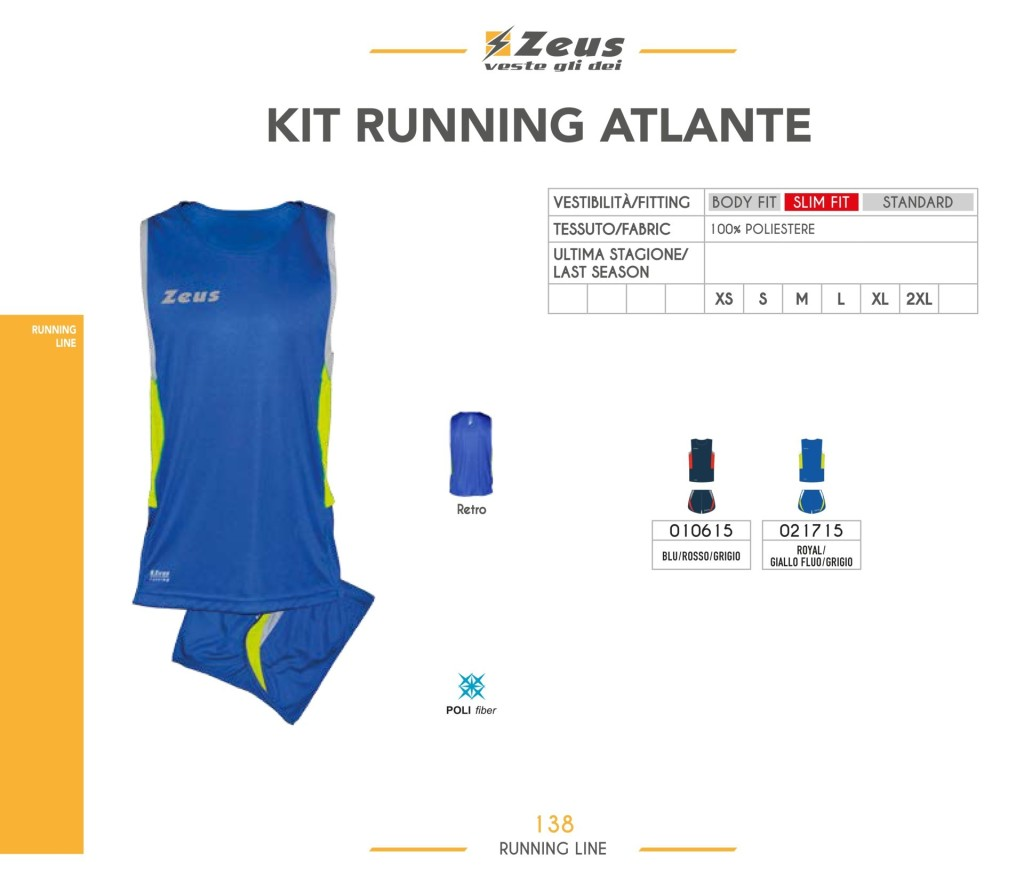 Stroje do biegania Kit Running Atlante