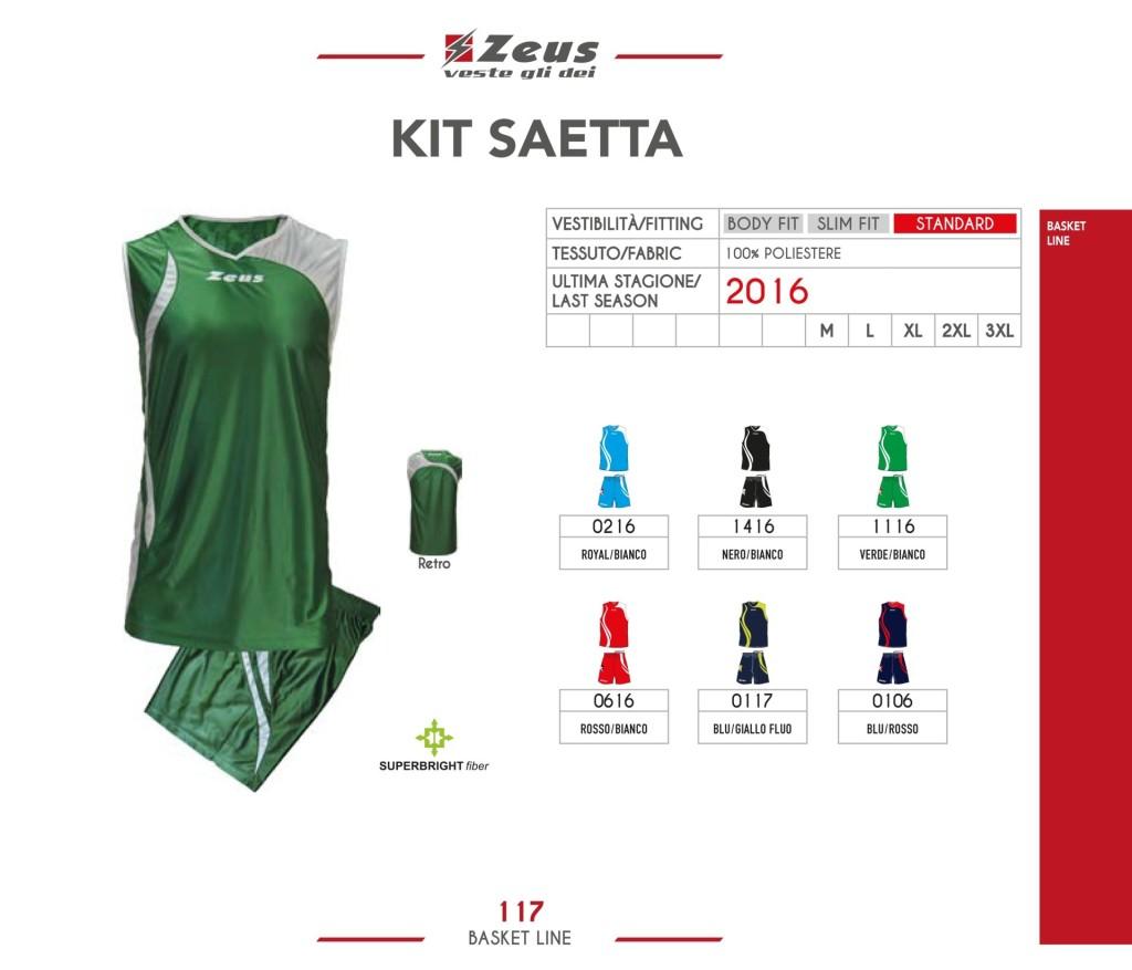 Komplety koszykarskie Zeus Kit Saetta