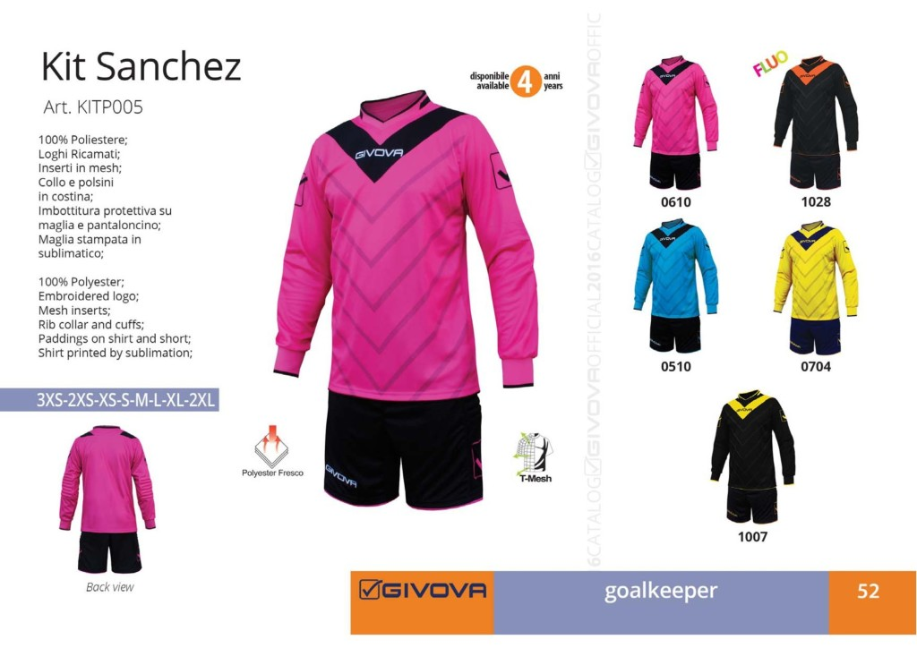 Komplety piłkarskie Givova Kit Sanchez