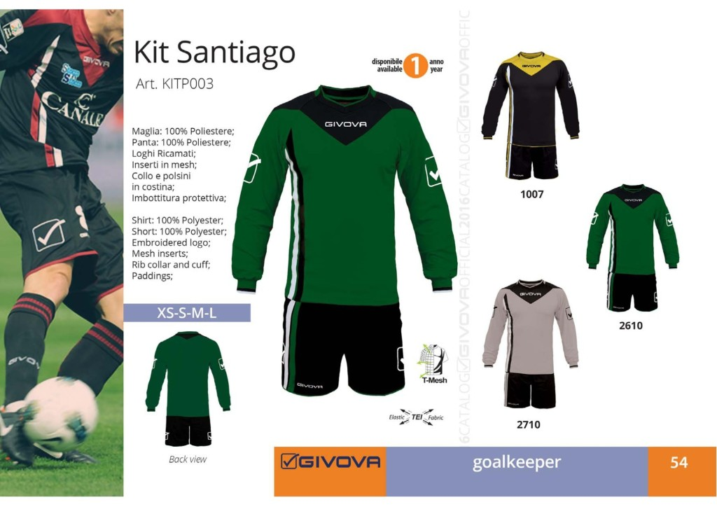 Komplety piłkarskie Givova Kit Santiago