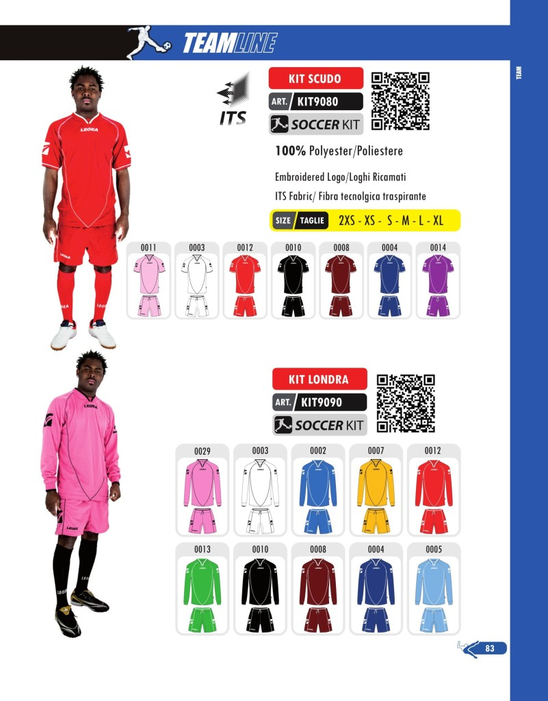Komplety piłkarskie Legea Kit Scudo i Londra