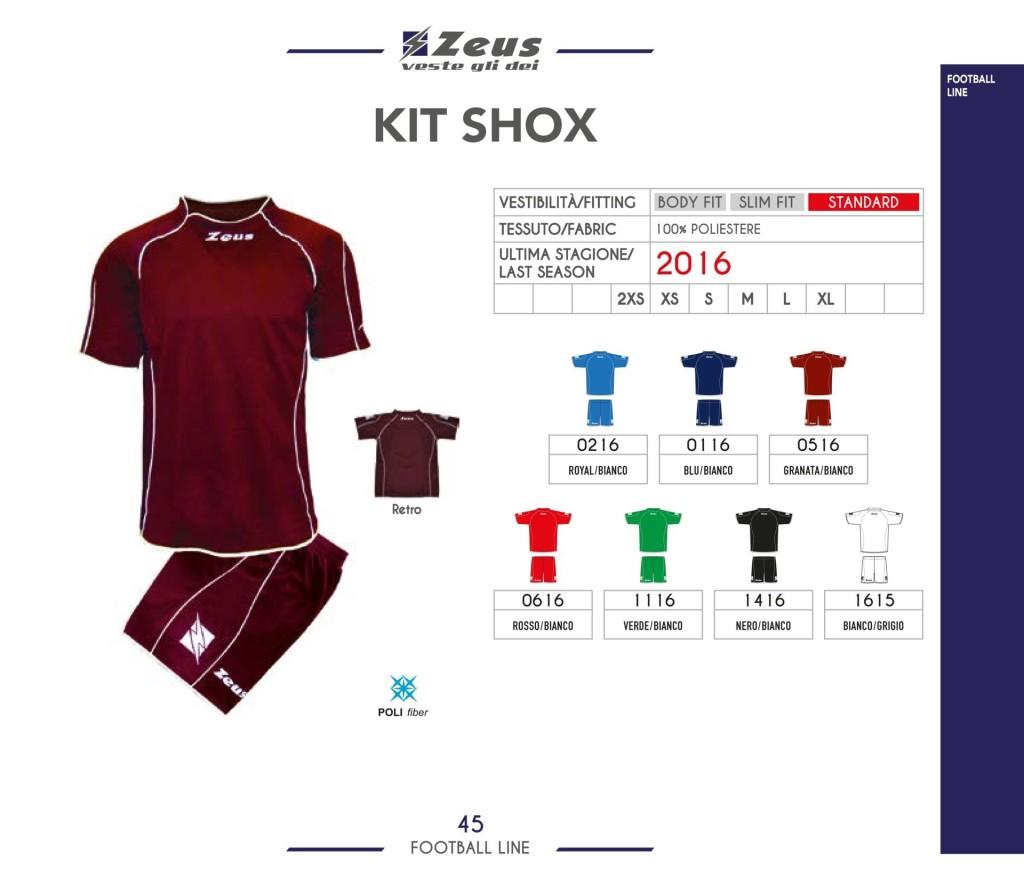 Komplety piłkarskie Zeus Kit Shox