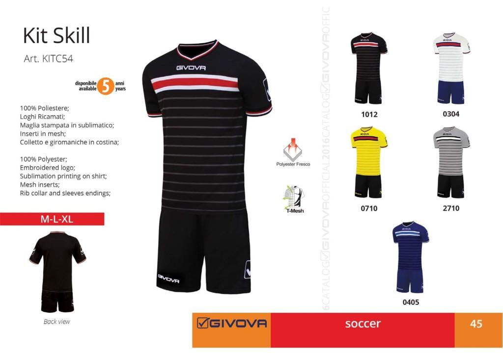 Komplety piłkarskie Givova Kit Skill