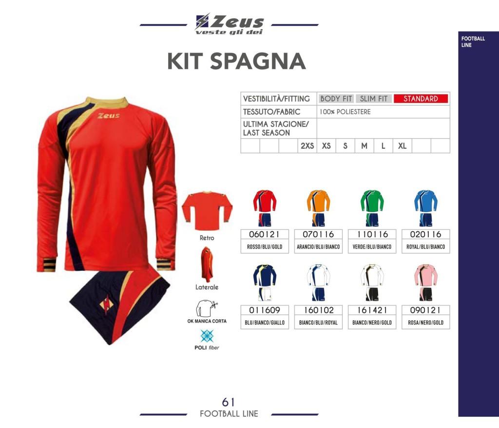 Komplety piłkarskie Zeus Kit Spagna