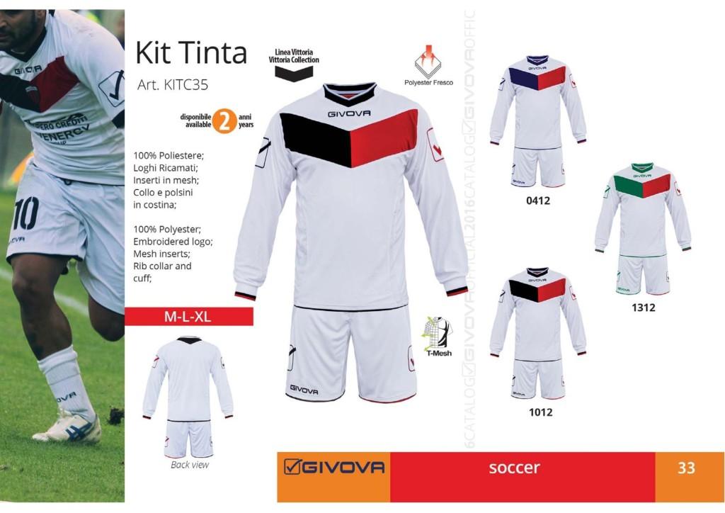 Komplety piłkarskie Givova Kit Tinta