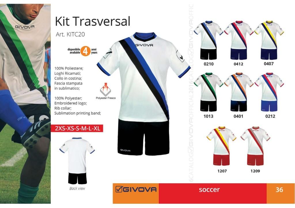 Komplety piłkarskie Givova Kit Trasversal