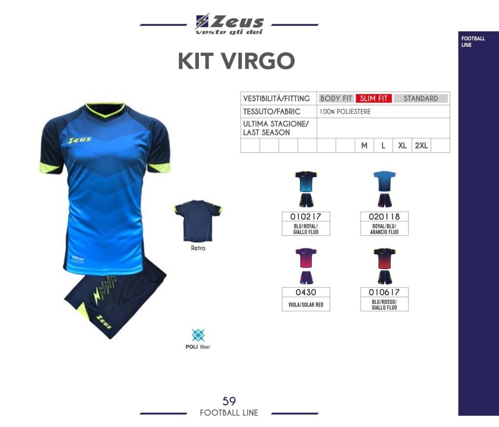 Komplety piłkarskie Zeus Kit Virgo
