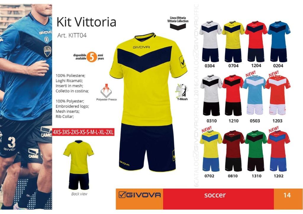Komplety piłkarskie Givova Kit Vittoria