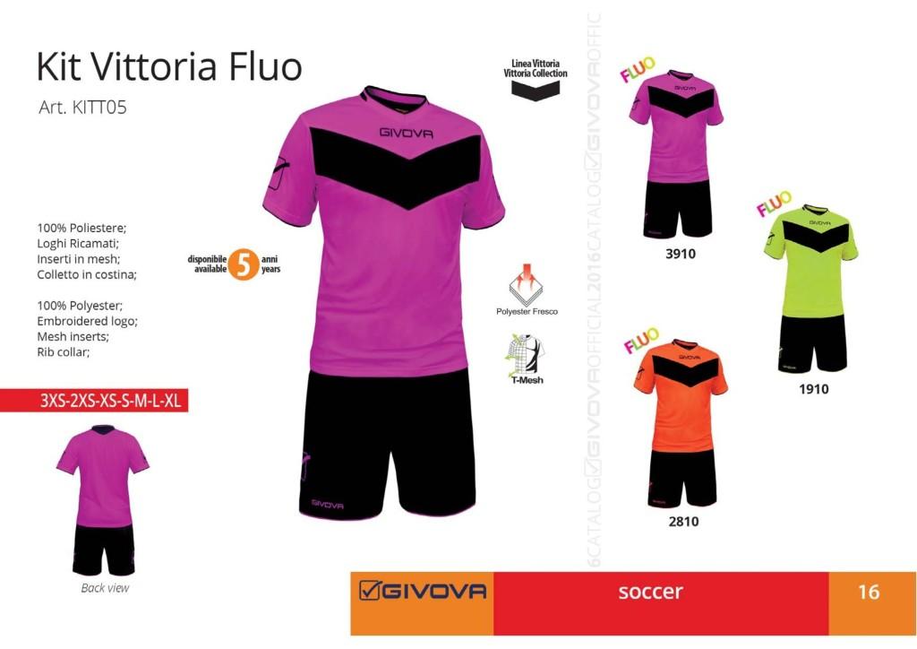 Komplety piłkarskie Givova Kit Vittoria Fluo