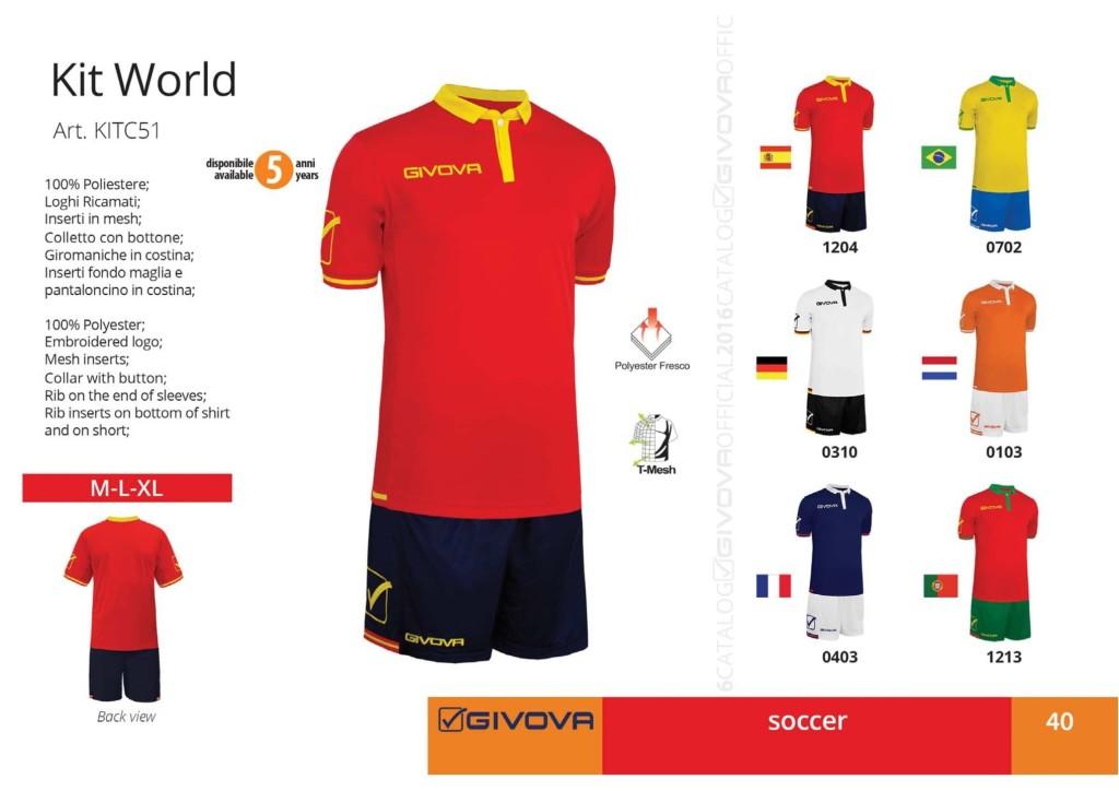 Komplety piłkarskie Givova Kit World