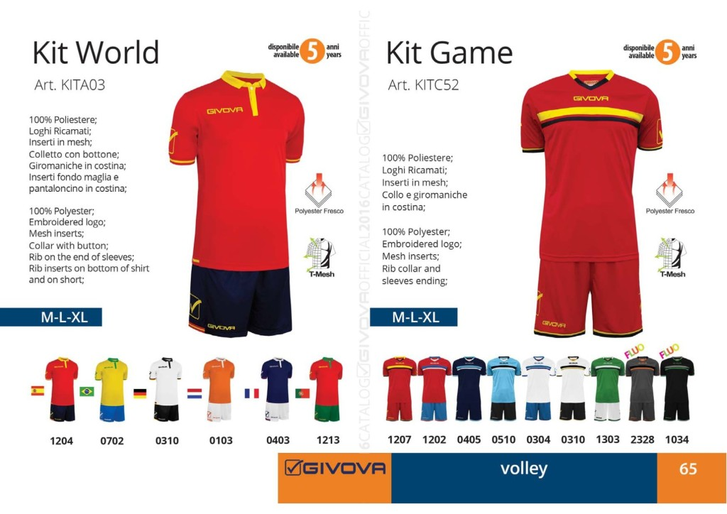 Komplety siatkarskie Givova Kit World Game