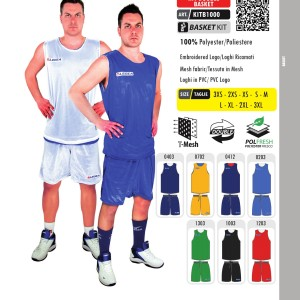 Stroje koszykarskie Legea Kit Double Basket