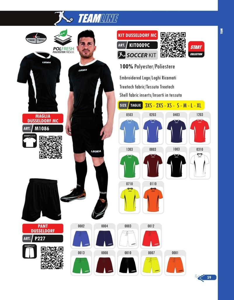 Komplety piłkarskie Legea Kit Dusseldorf Mc