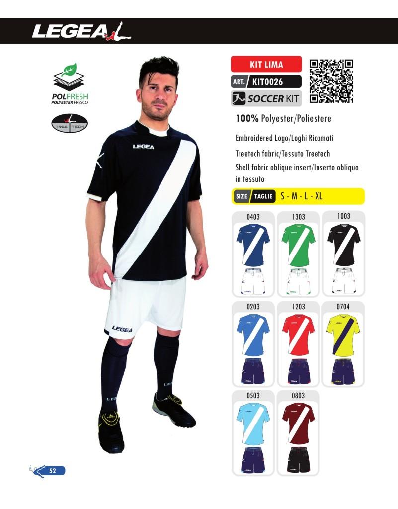 Stroje piłkarskie Legea Kit Lima
