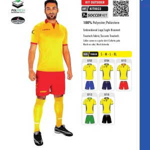 Komplety piłkarskie Legea Kit Outsider