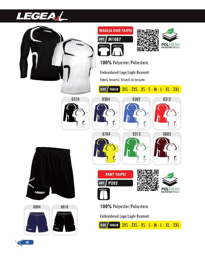 Stroje piłkarskie Legea Maglia Duo Taipei i Pant Taipei