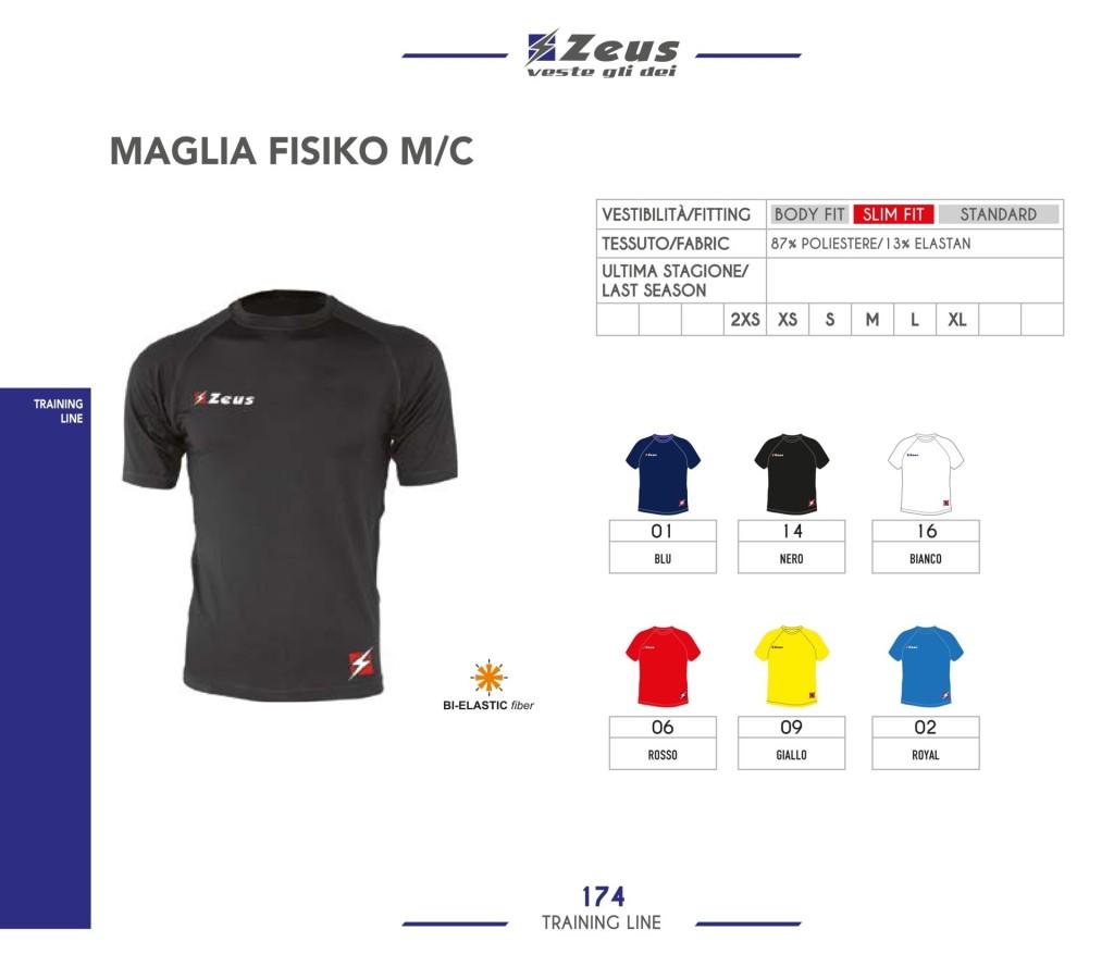 Odzież treningowa Zeus Maglia Fisiko MC