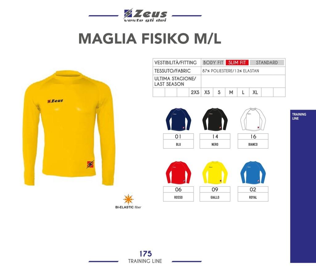 Odzież treningowa Zeus Maglia Fisiko M/L