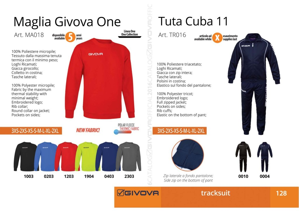 Dresy sportowe Maglia Givova One i Tuta Cuba 11