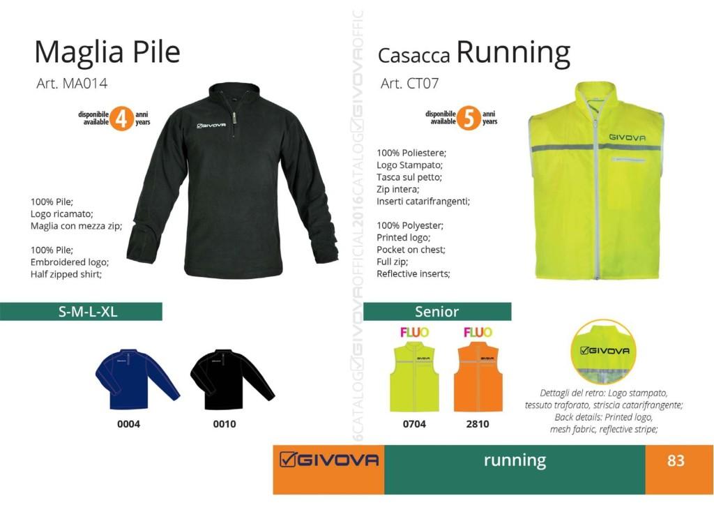 Komplety do biegania Givova Maglia Pile Casacca Running