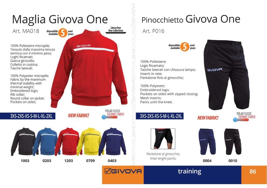 Dresy sportowe Maglia i Pinocchietto Givova One