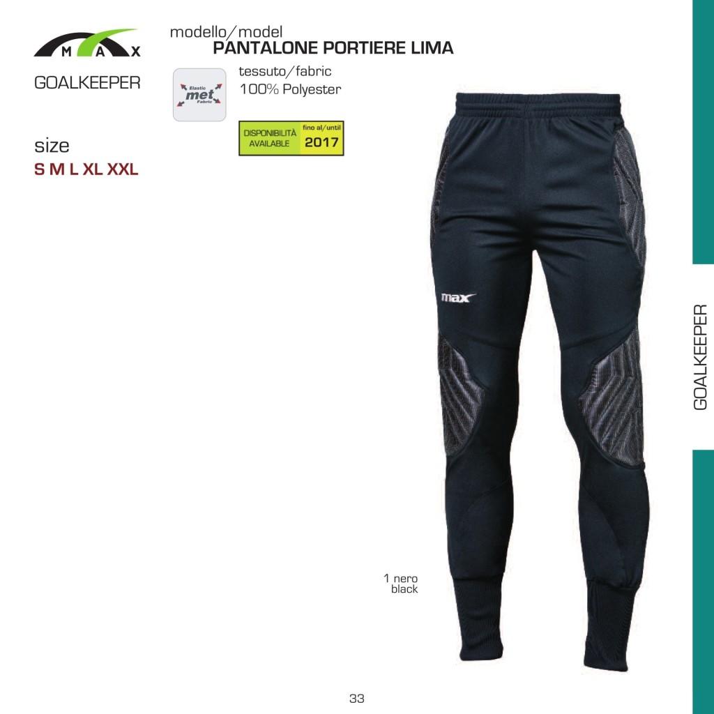 Komplety piłkarskie Max Pantalone Portiere Lima