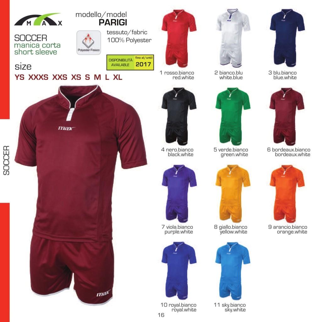 Komplety piłkarskie Max Parigi