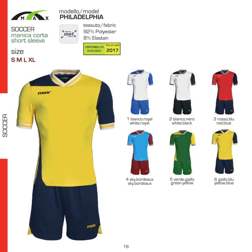 Komplety piłkarskie Max Philadelphia
