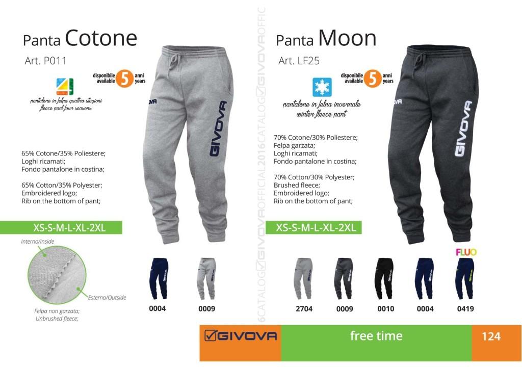 Odzież Givova Relax Panta Cottone i Moon