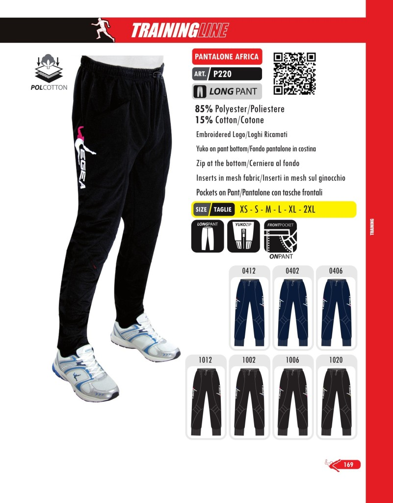 Odzież treningowa Legea Pantalone Africa