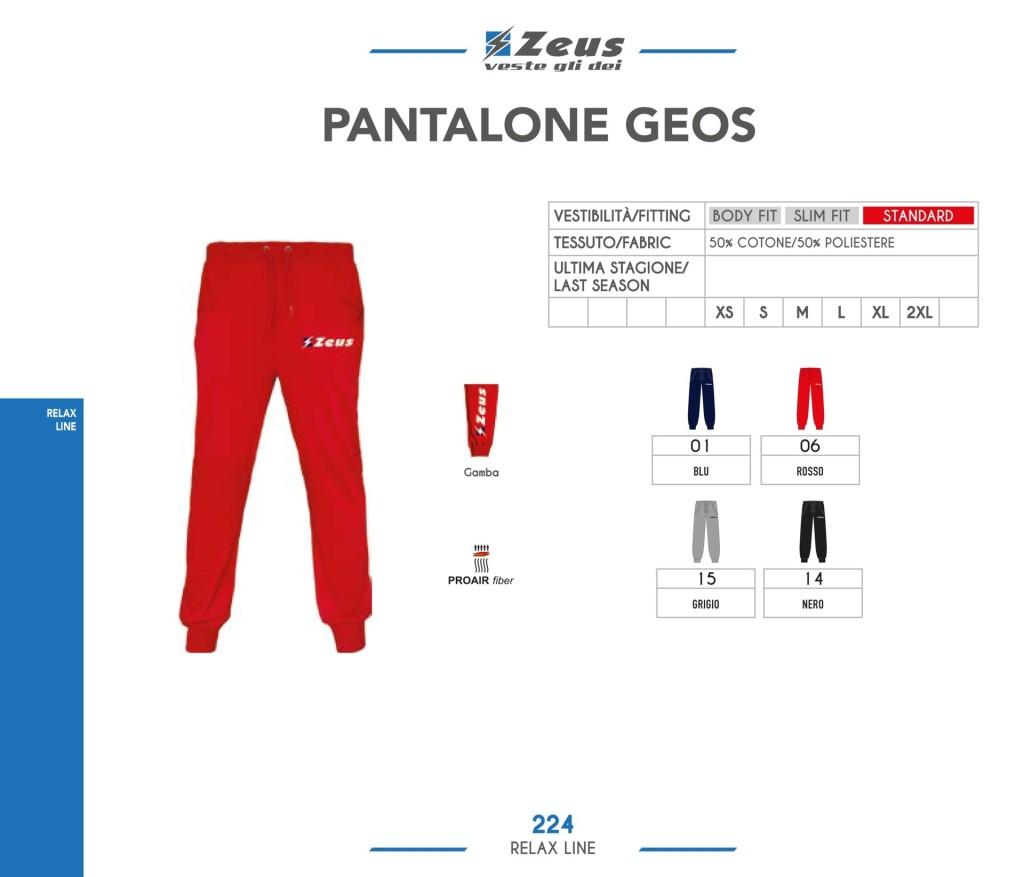 Odzież Zeus Relax Pantalone Geos