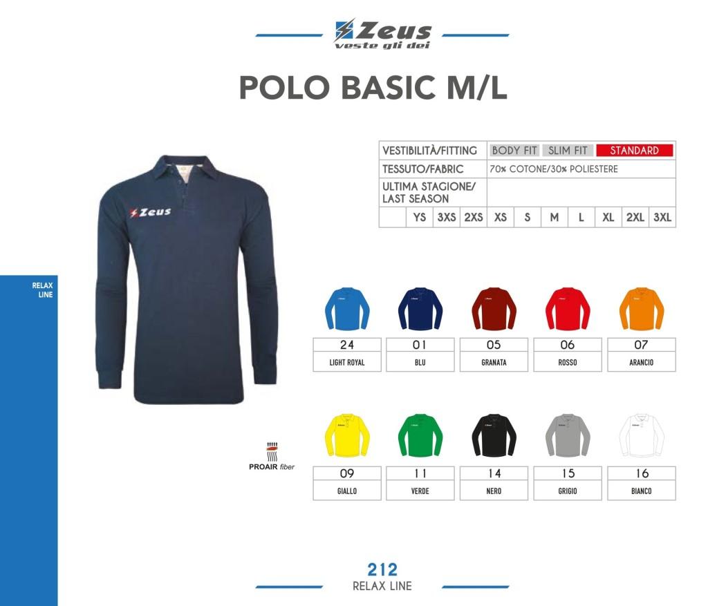 Odzież Zeus Relax Polo Basic M/L