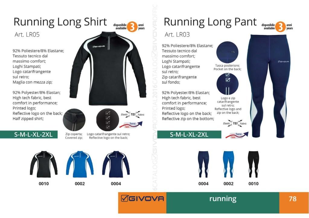 Stroje do biegania Givova Running Long Shirt i Pant