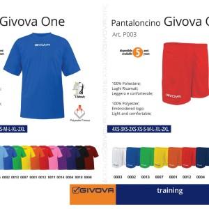 Odzież treningowa Shirt i Pantaloncino Givova One