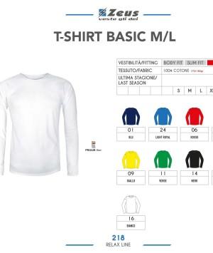 Odzież Zeus Relax T-shirt Basic M/L