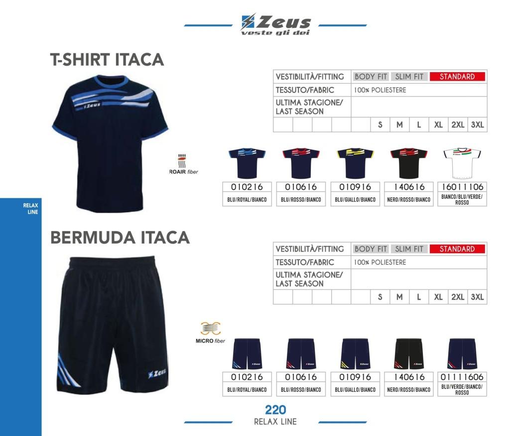 Odzież Zeus Relax T-shirt i Bermuda Itaca