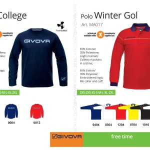 Odzież Givova Relax T-shirt College i Polo Winter Gol