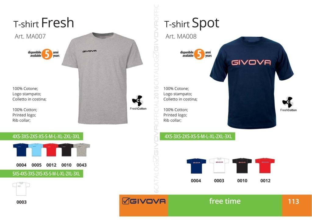 T-shirt Givova Relax Fresh i Spot