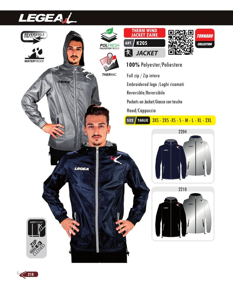Kurtka Legea Therm Wind Jacket Zaire
