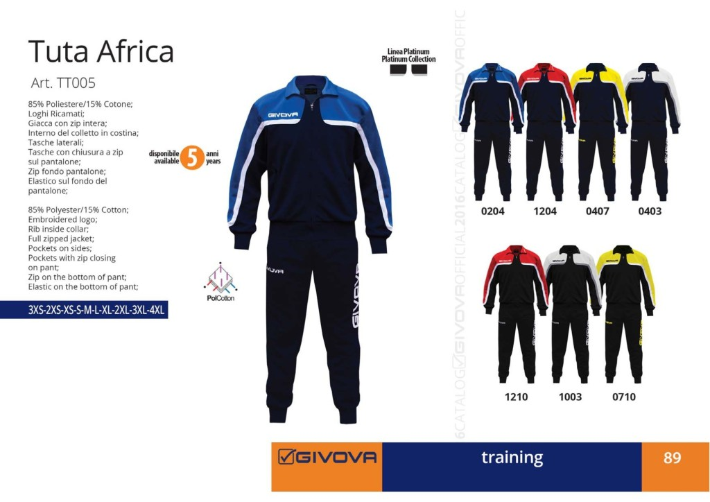 Dresy sportowe Givova Tuta Africa