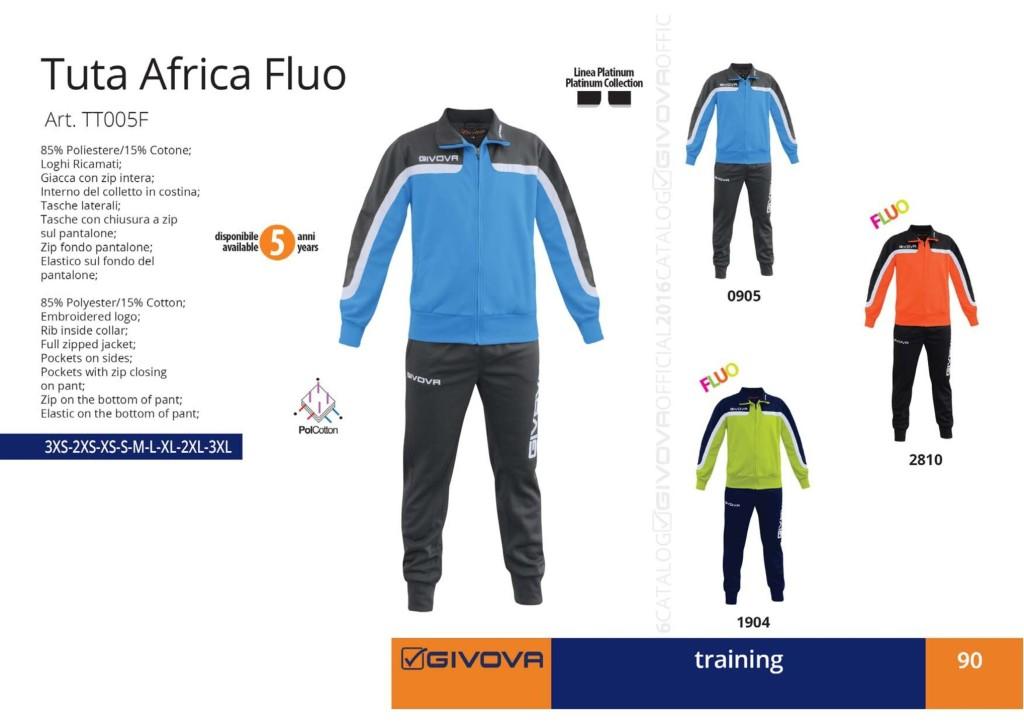 Dresy sportowe Givova Tuta Africa Fluo