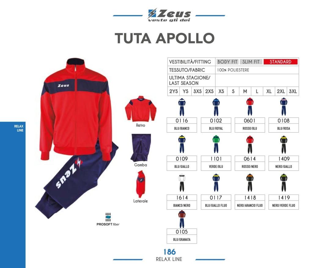 Dresy sportowe Zeus Tuta Apollo
