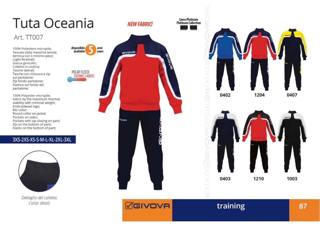 Dresy sportowe Givova Tuta Oceania