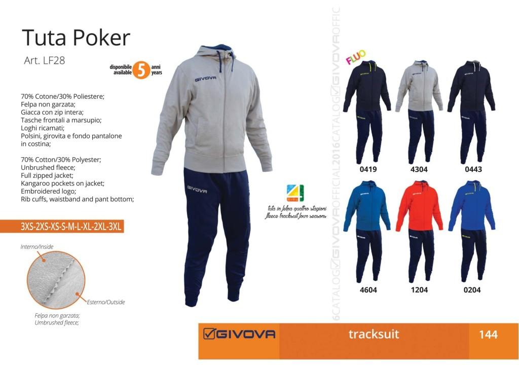 Dresy sportowe Givova Tuta Poker