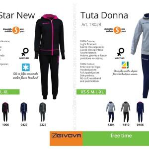 Odzież Givova Relax Tuta Star New i Tuta Donna
